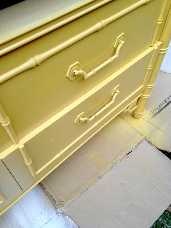 painting dresser hardware