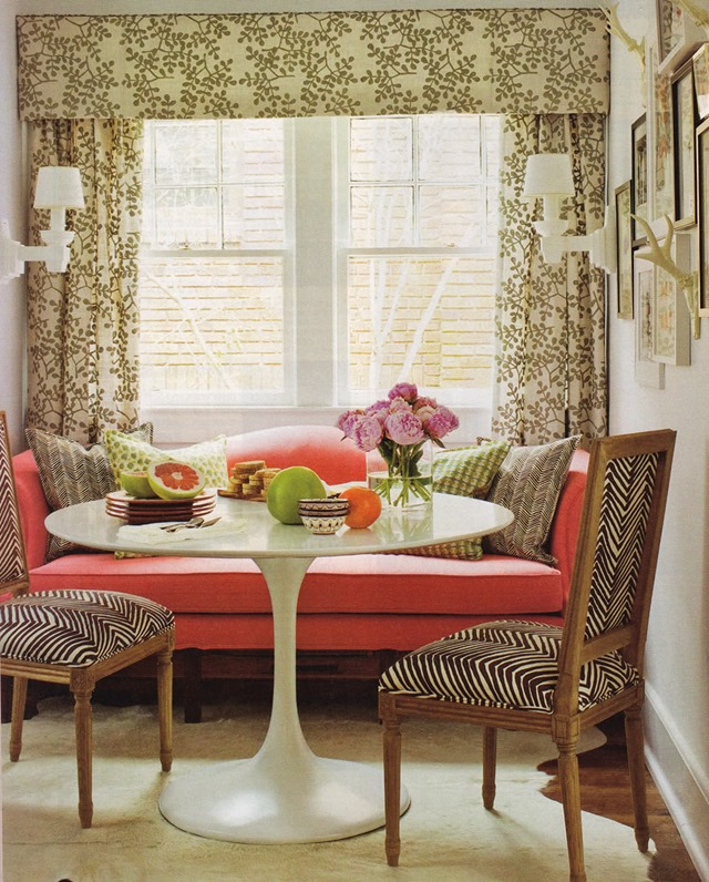Zig zag fabric on dining room chairs