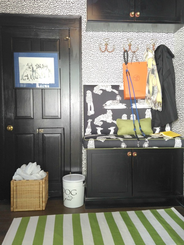 black-white-green-mudroom