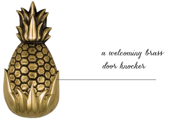 pineapple-door-knocker