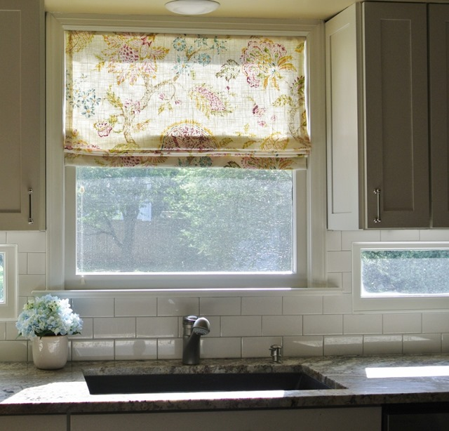 kitchen window roman shade