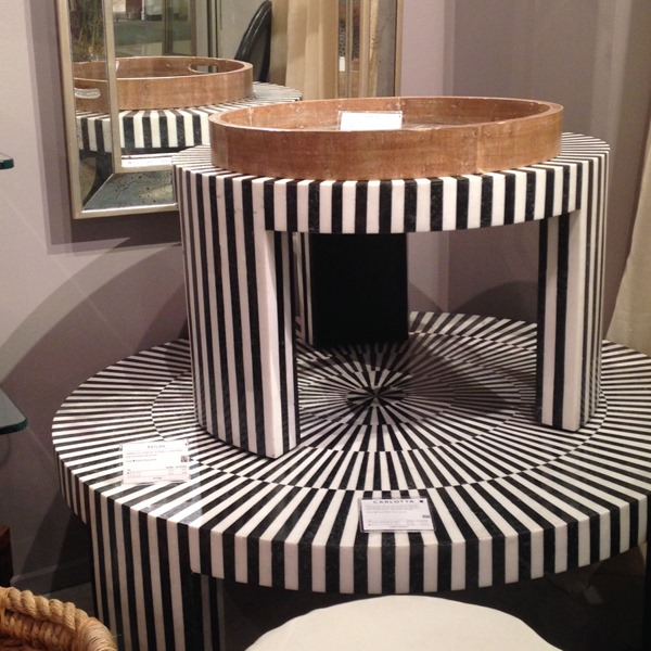 black and white inlay tables