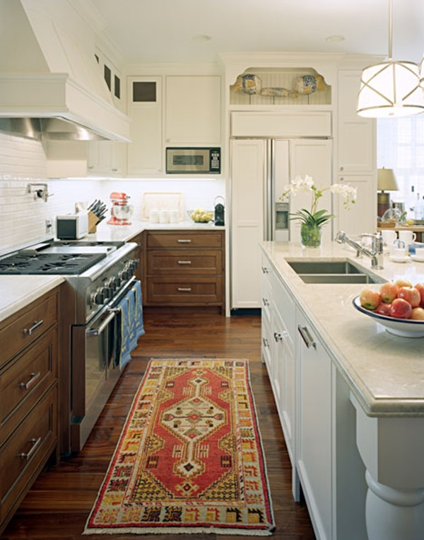 Kitchen cabinets white wood mix emily a clark Kitchen design mixed cabinets