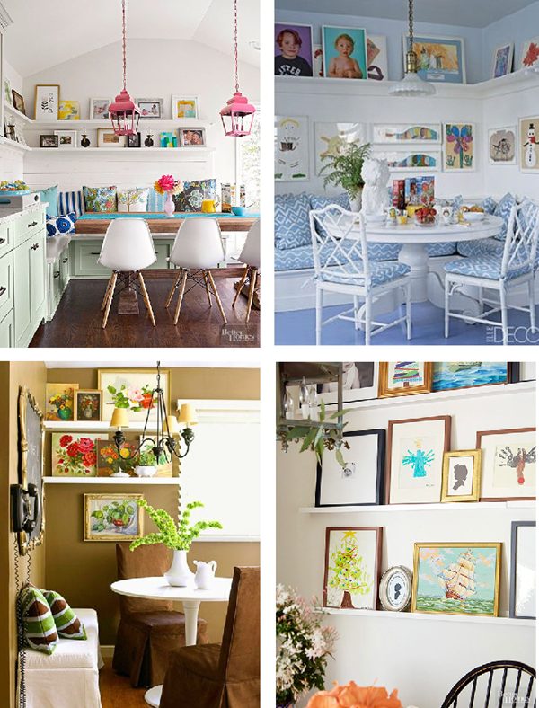 breakfast nook gallery wall inspiration