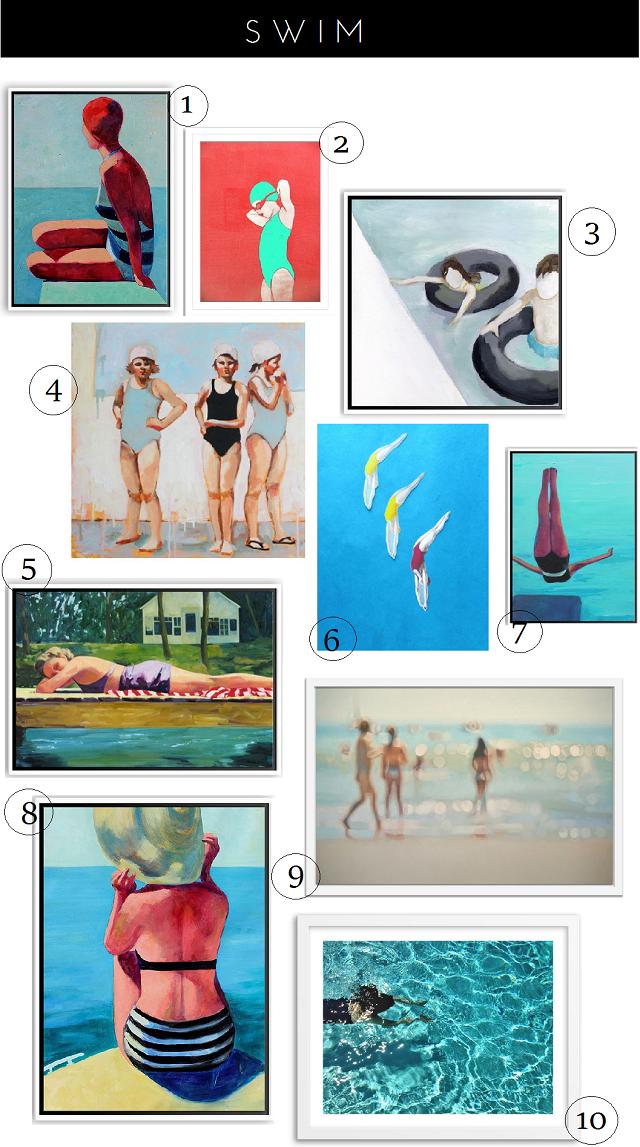 swim + summer art finds