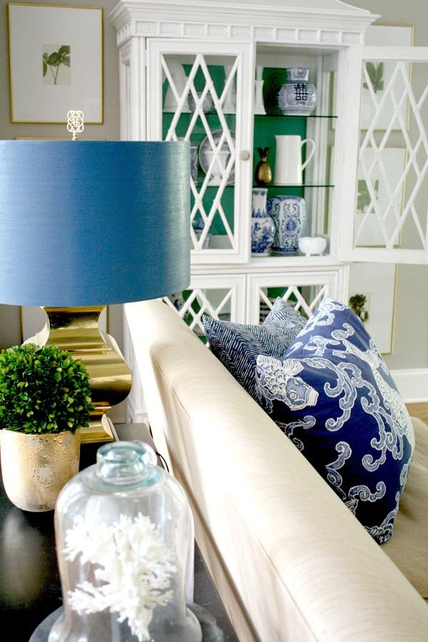 astounding white blue green living rooms | A Classic Palette: Blue, Green & White - Emily A. Clark