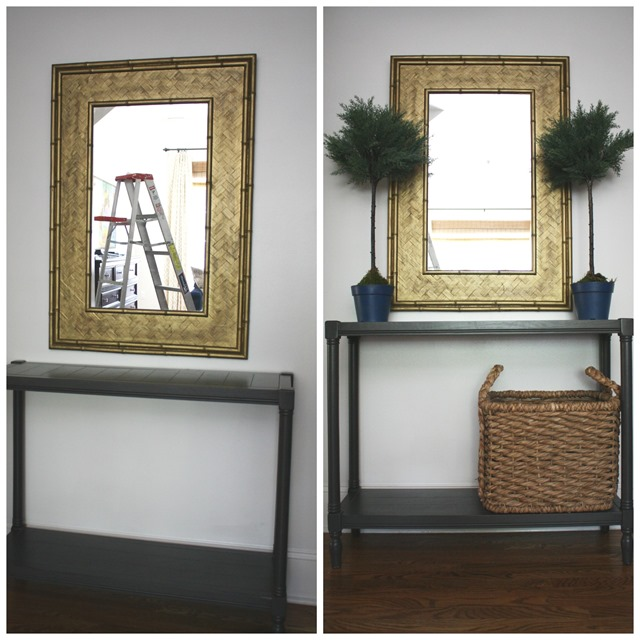 decorating an entry console