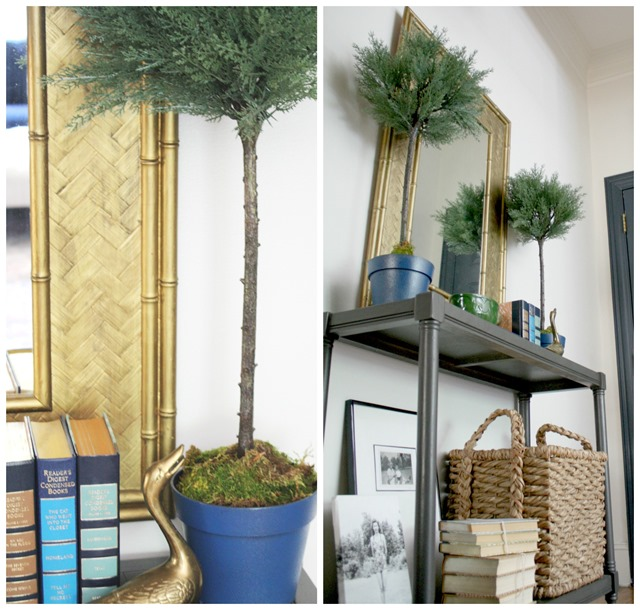 faux topiaries