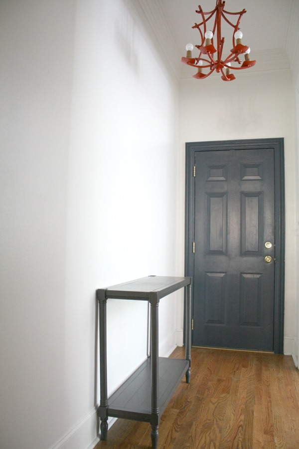 narrow entryway console table