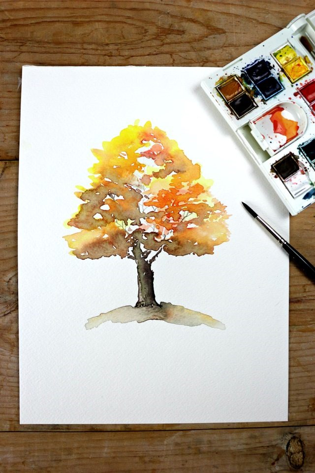 Fall-tree-watercolor-DIY