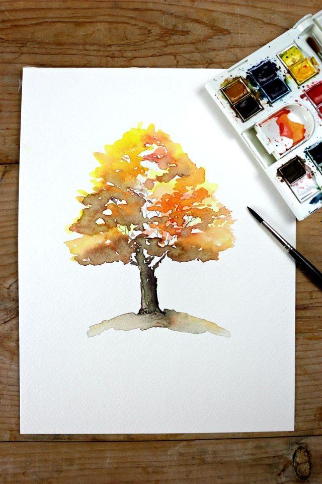 Fall-tree-watercolor-DIY