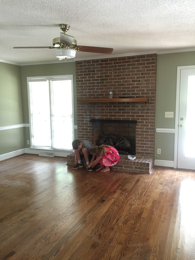 Painting Our Brick Fireplace White