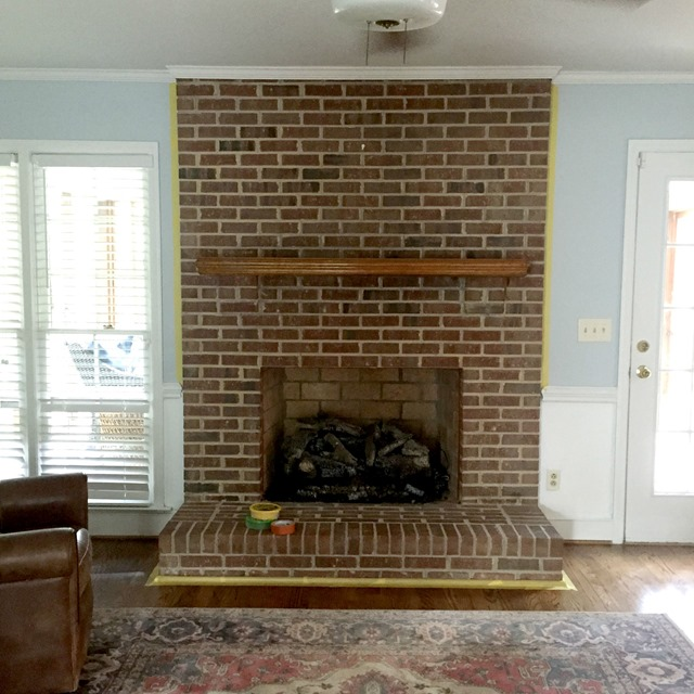 Brick Fireplace Part - 20: ... Asked Me About My Process When I Posted This U201cin Progressu201d Shot On  Instagram. Thereu0027s Not Much Of A Process, Though. Anyone Can Paint A Brick  Fireplace.
