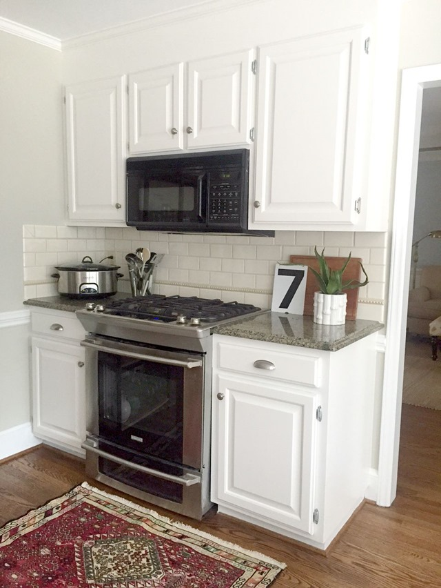 Painted Cabinets With White Countertops