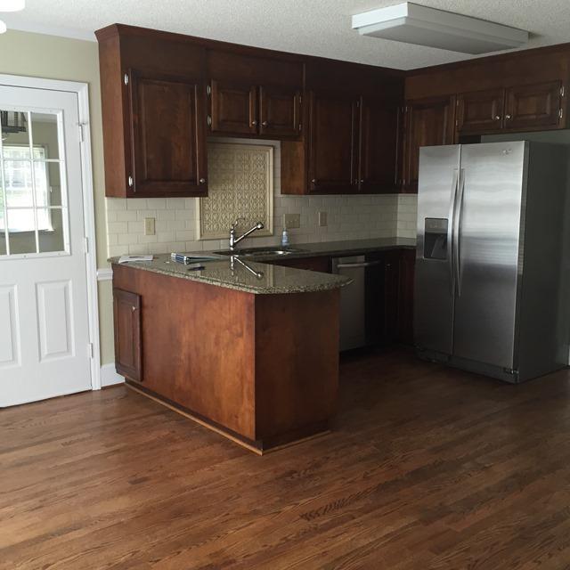 dark kitchen before