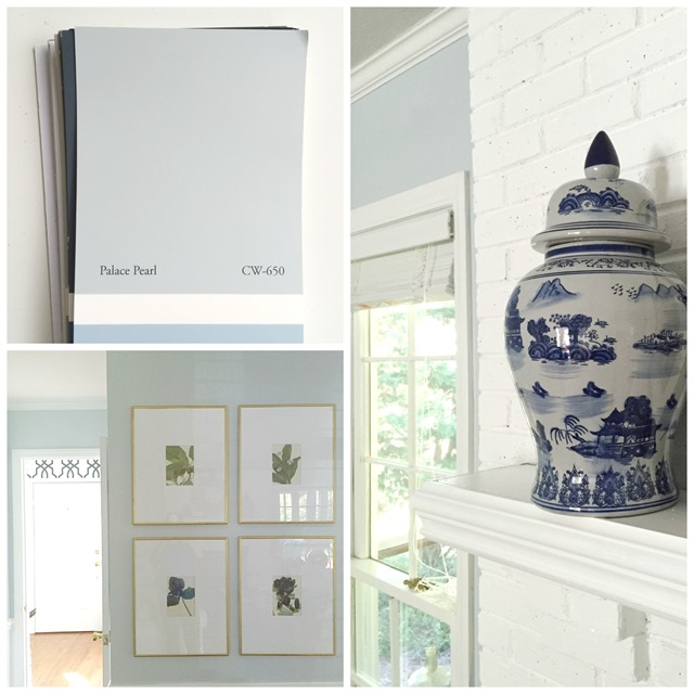 Light Blue Walls Benjamin Moore Palace Pearl