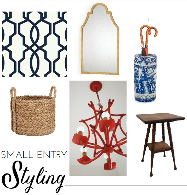 Small Entry Decorating Plan