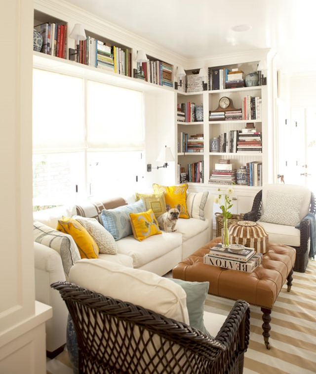 keeping room with bookshelves