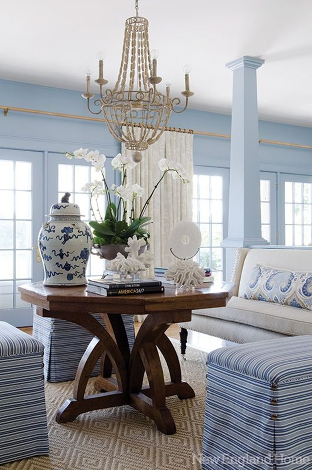 Elle Decor Living Rooms: Painting Our Living Room Light Blue