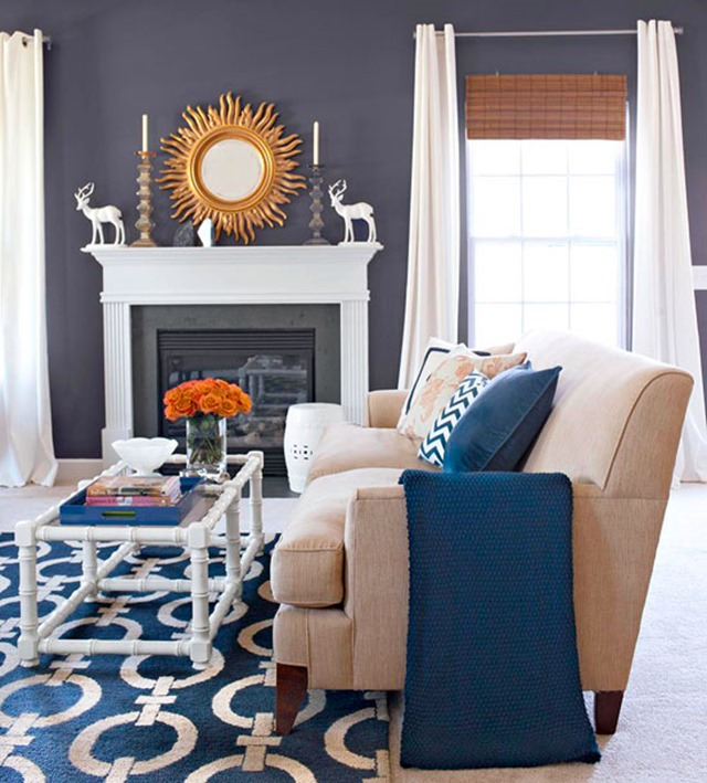 Navy Living Room Sofa