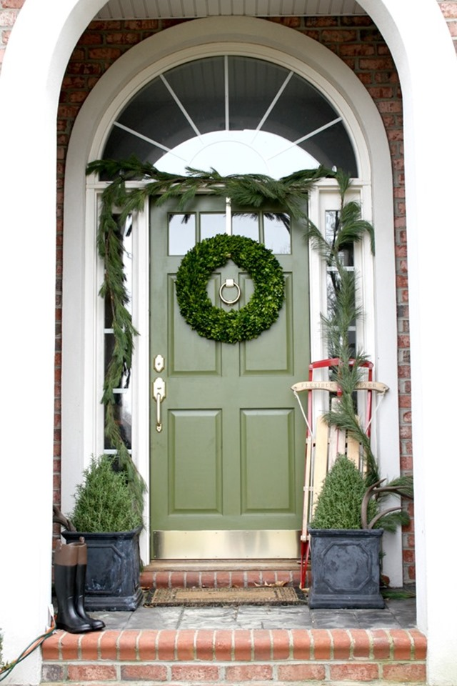 Image result for front doors, christmas
