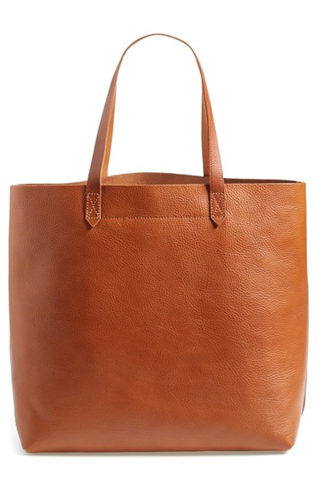 Madewell leather Transport tote bag