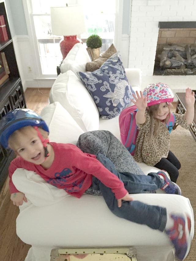 IKEA Ektorp sofa + kids