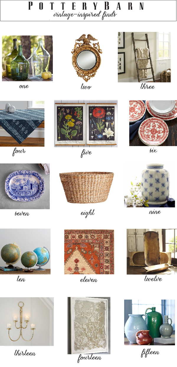 Vintage-inspired Finds from Pottery Barn