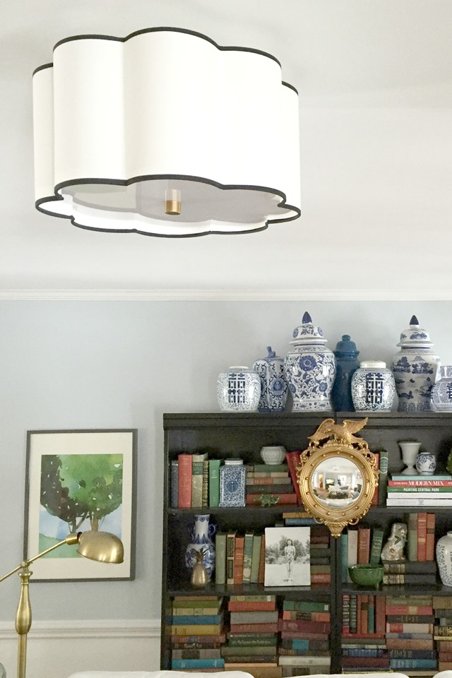 flushmount light in living room