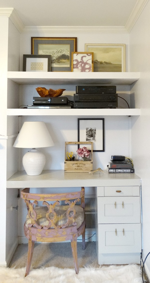 office with built-in bookcases