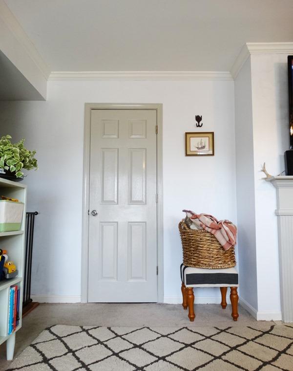 painted door, entryway