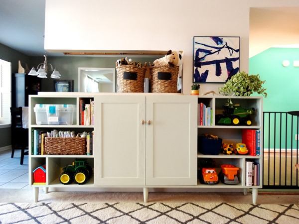 home tour: living room toy storage