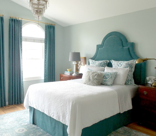 teal master bedroom