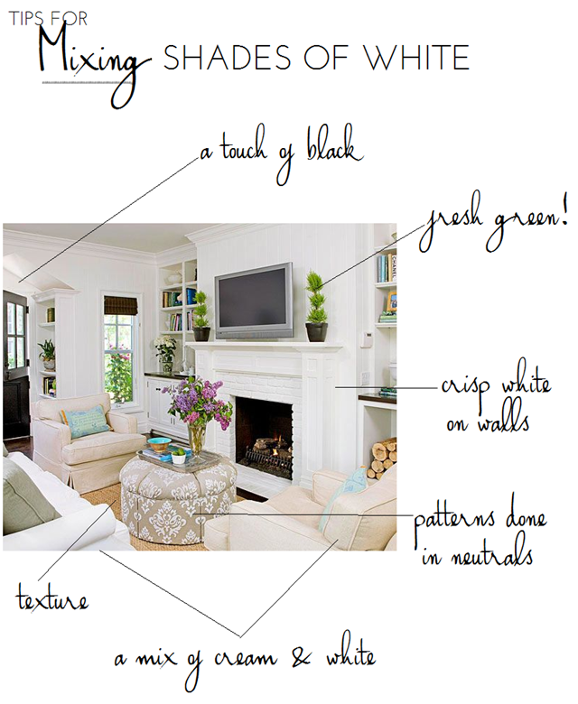 How to Mix Shades of White