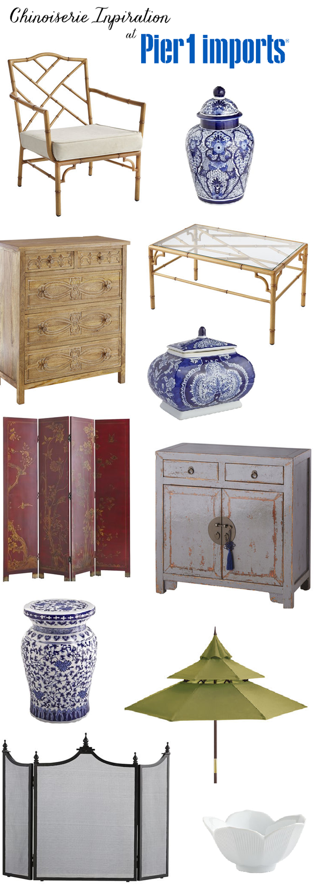 Chinoiserie style at Pier 1 Imports