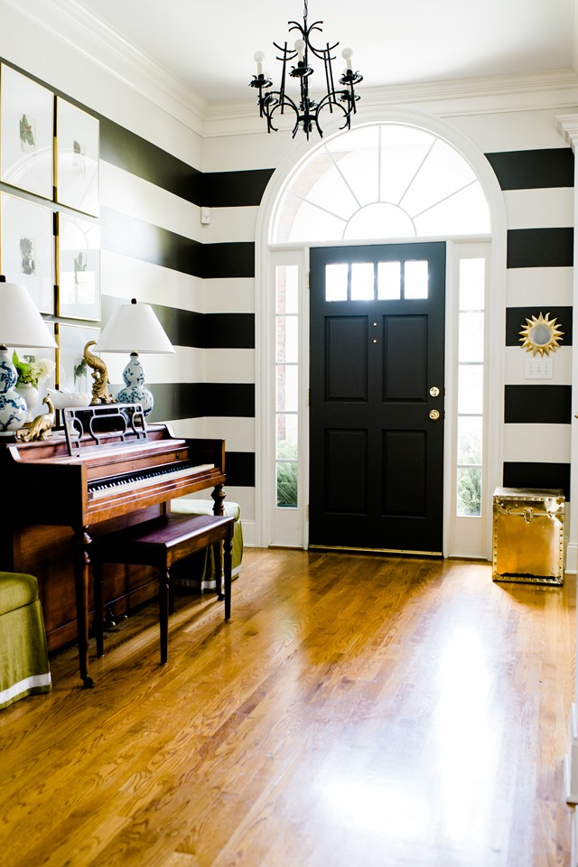 striped foyer