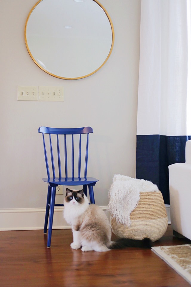 painted blue chair