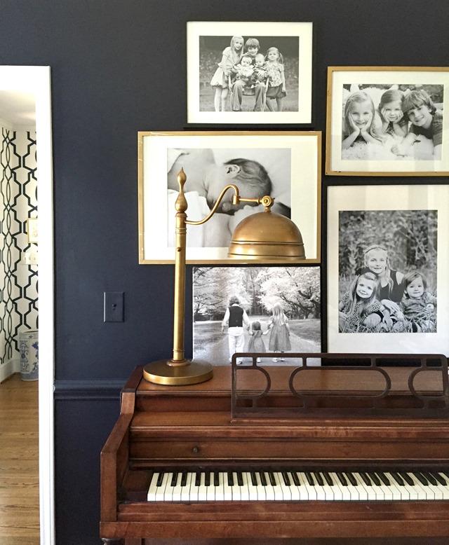 black living room walls