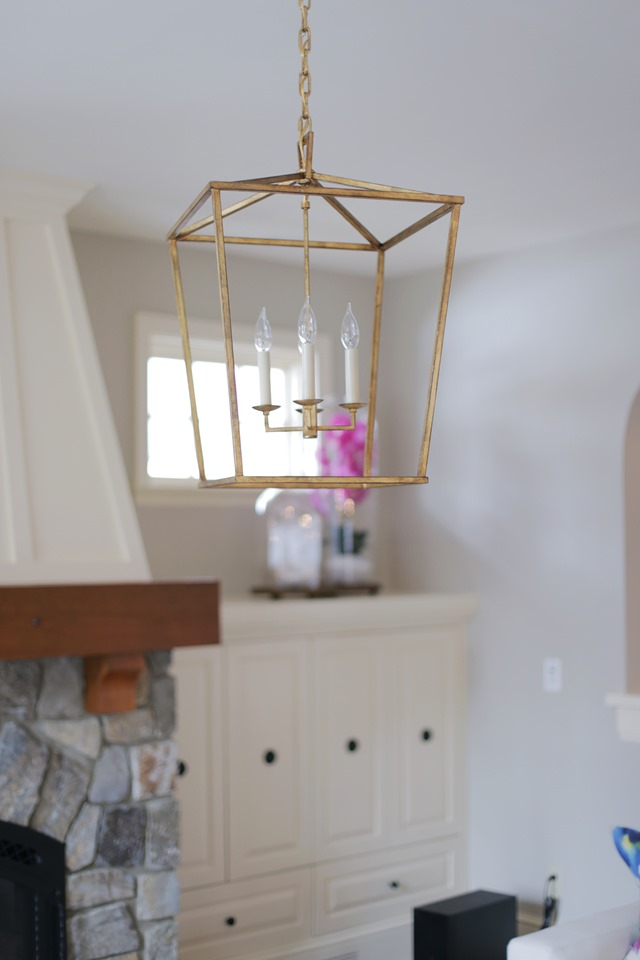 brass lantern pendant light