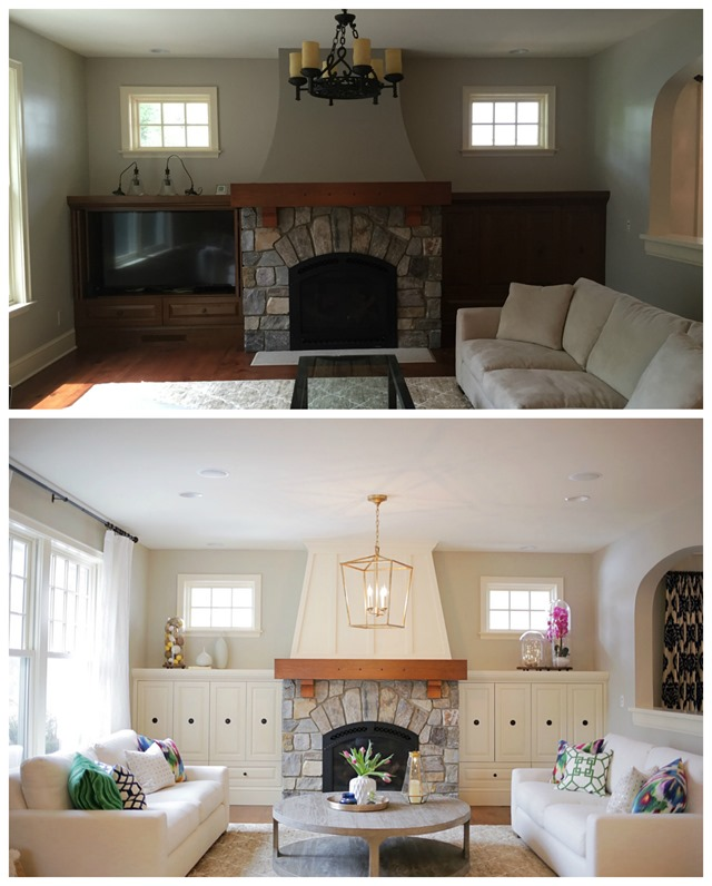 """A Family Room """"Before & After"""""""
