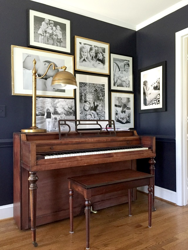 piano gallery wall