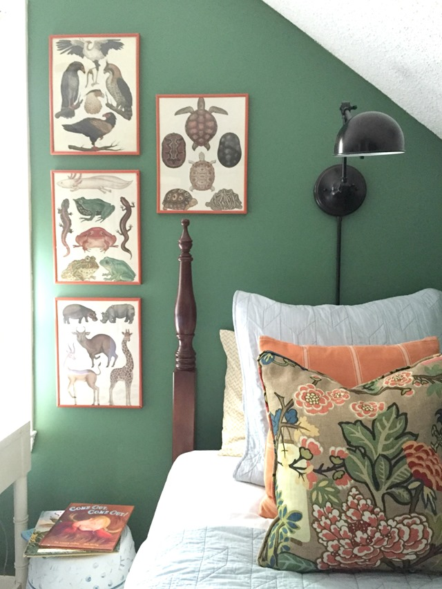 Raleigh green bedroom