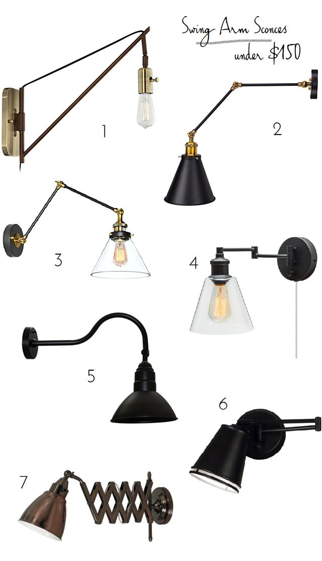 swing_arm_sconces  sc 1 st  Emily A. Clark & Swing Arm Wall Lamps Under $150 - Emily A. Clark