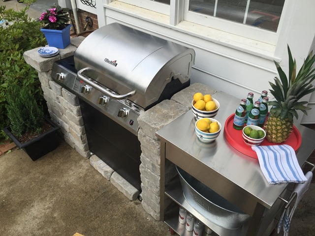 diy outdoor kitchen summer entertaining - Diy Outdoor Kitchen