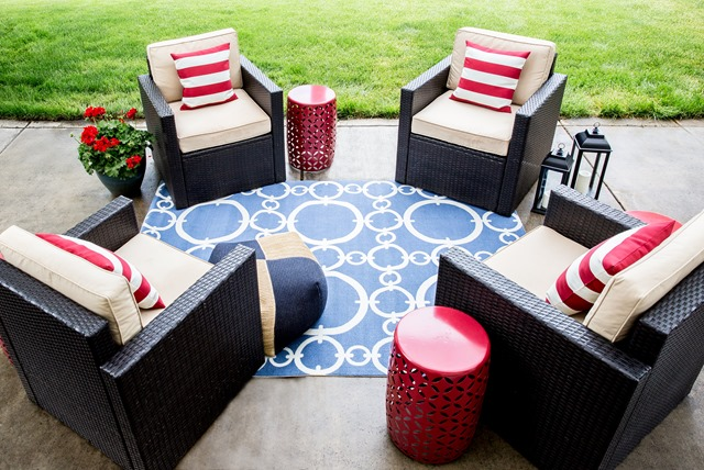 Stupendous Lowes Spring Makeover Patio Reveal Emily A Clark Ocoug Best Dining Table And Chair Ideas Images Ocougorg
