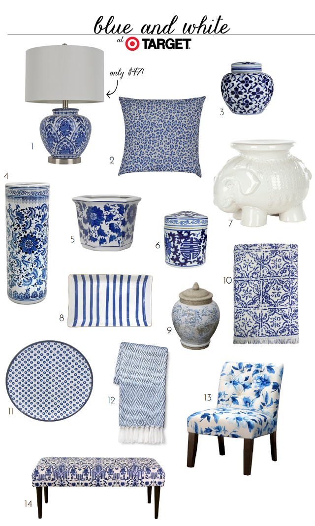 Blue And White Finds At Target Emily A Clark