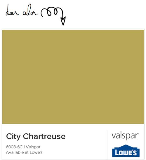 Valspar City Chartreuse paint color