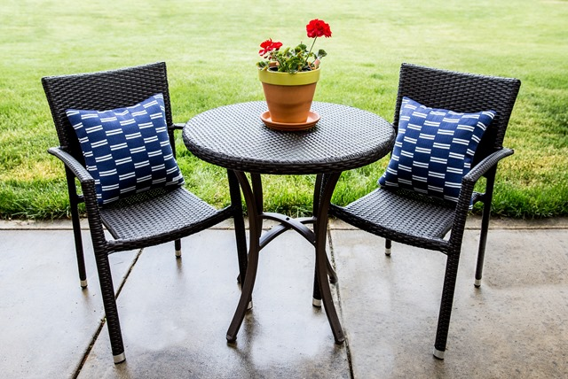Barcelona wicker bistro set from Lowe's