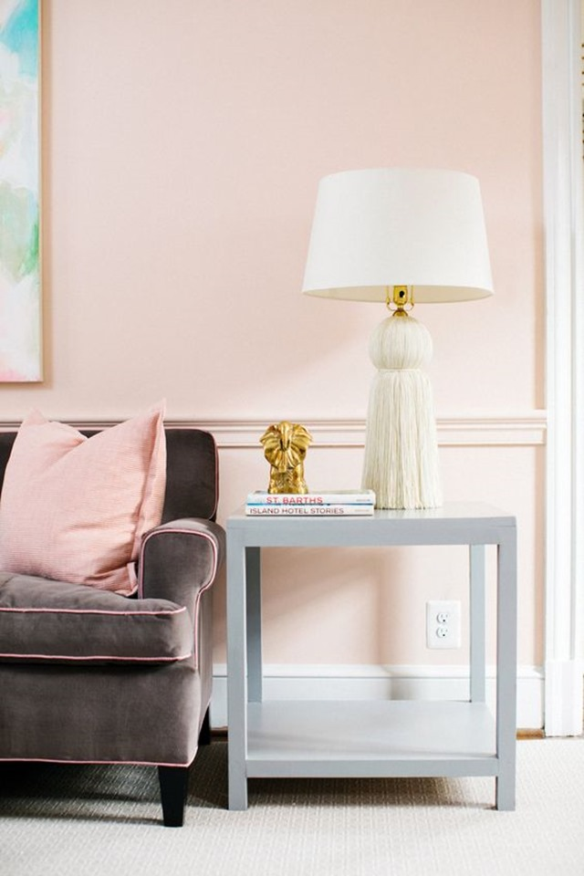 is the blush pink trend here to stay emily a clark. Black Bedroom Furniture Sets. Home Design Ideas
