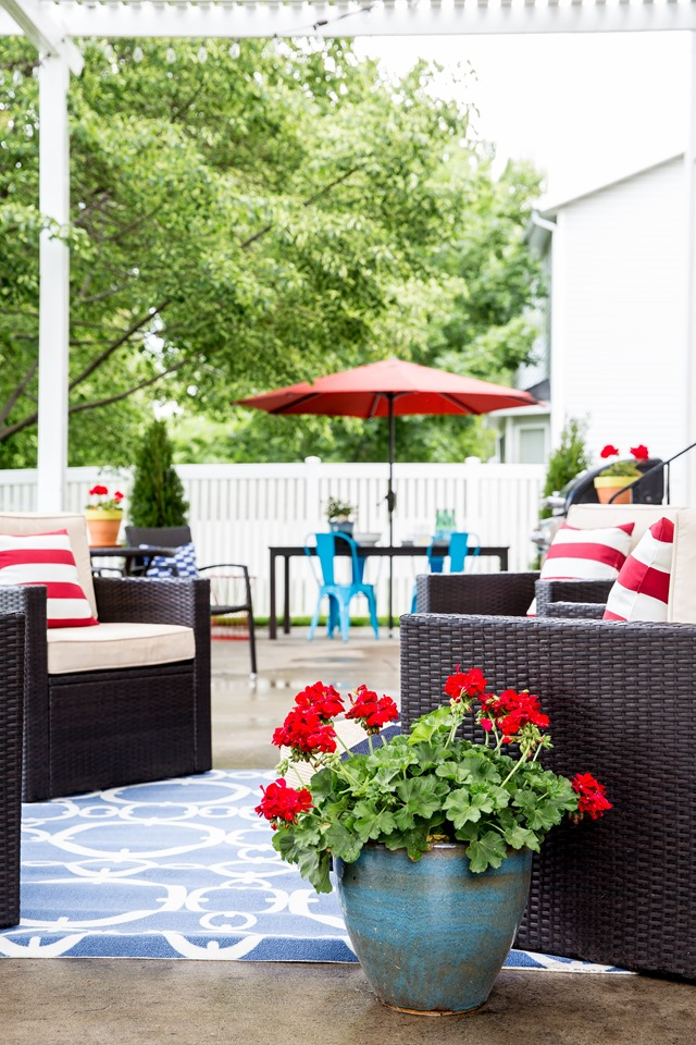 Colorful Patio with Outdoor Seating from Lowe's